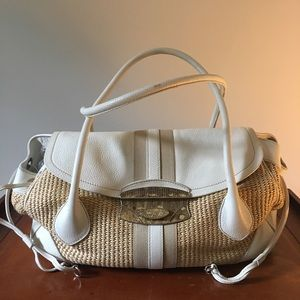 Prada straw bag